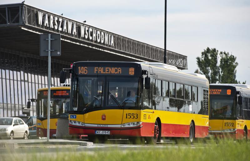 Pętla autobusowa przy Dworcu Wschodnim po remoncie