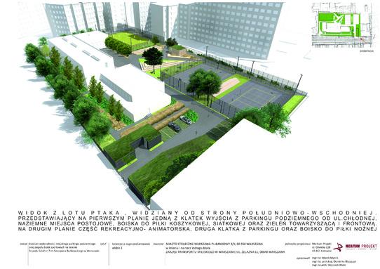 parking Chłodna - wizualizacja 1