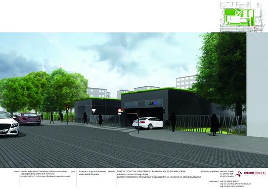 parking Chłodna - wizualizacja 4