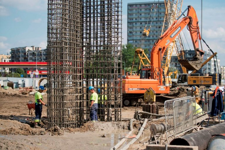 Budowa ścian szczelinowych na stacji Kondratowicza. fot. Maciej Czerski-Metro Warszawskie