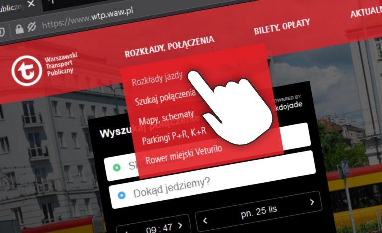 Wszystko o komunikacji na www.wtp.waw.pl