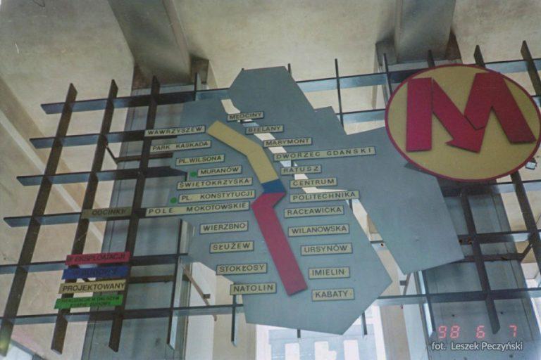 Schemat budowanej linii M1 - koniec lat 90. XX wieku
