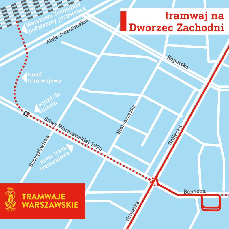Trasa łącznika pomiędzy ul. Grójecką a Dworcem Zachodnim