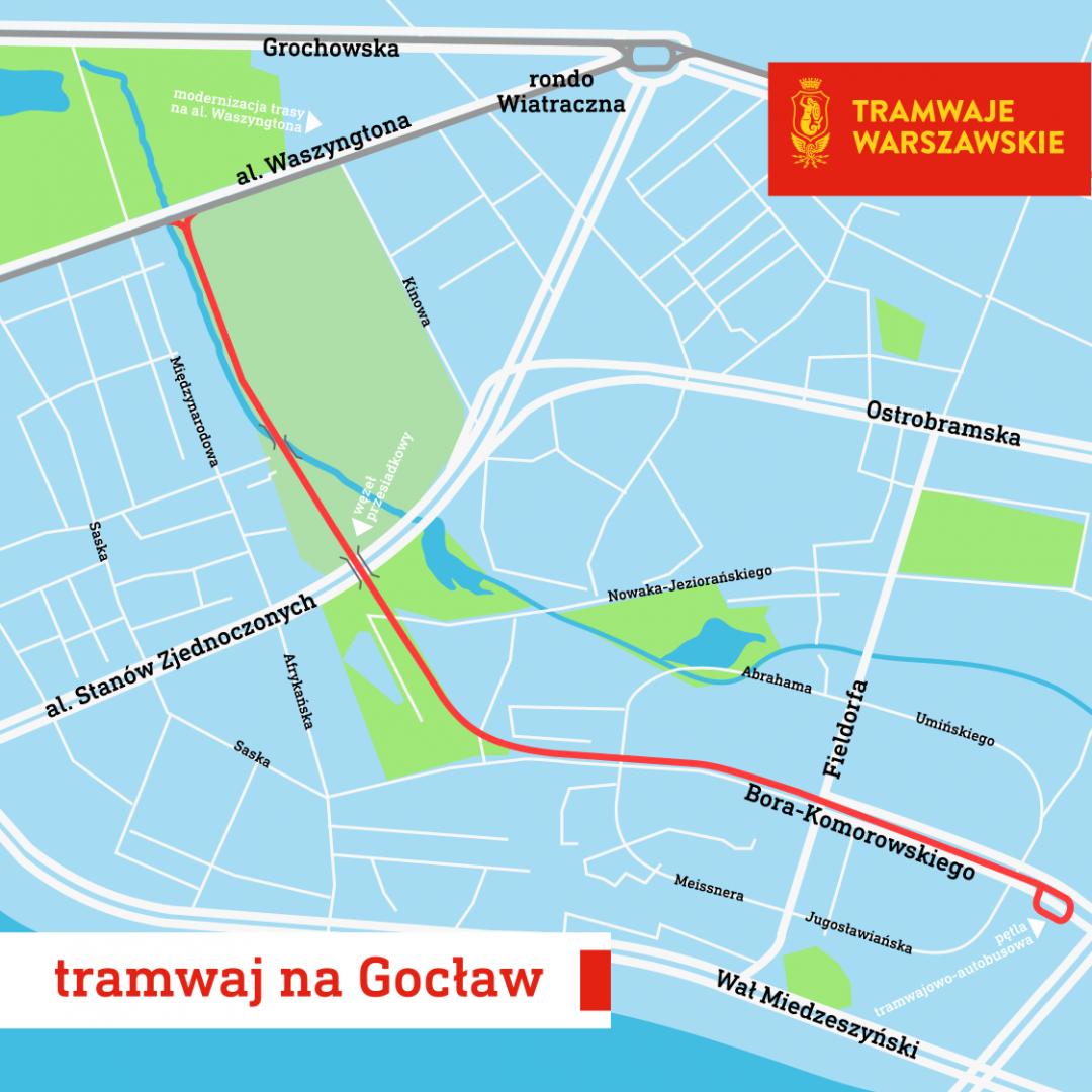 Tramwaj na Gocław – pierwsza umowa podpisana – ZTM Warszawa