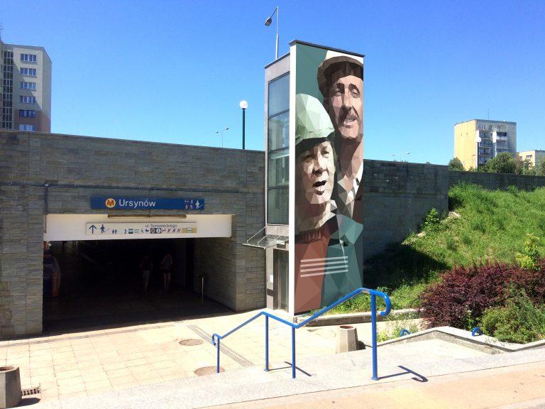 zdjęcie muralu: Inżynier Karwowski i Maliniak znów na Ursynowie