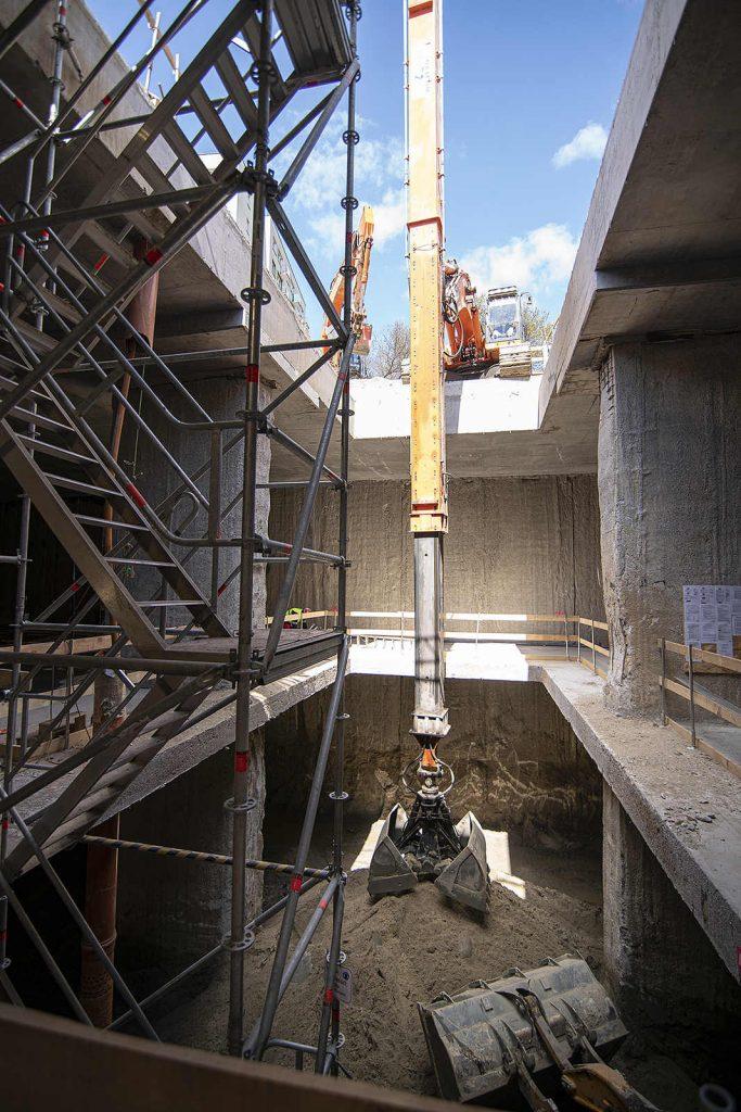 Na wszystkich stacjach bródnowskiego fragmentu metra budowa prowadzona jest już na poziomie -2. fot. Metro Warszawskie