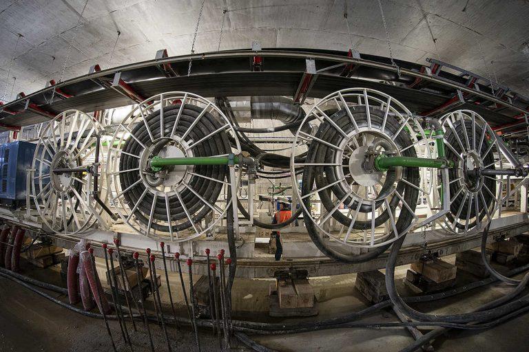 Taśmociąg tarczy TBM Maria. fot. Metro Warszawskie