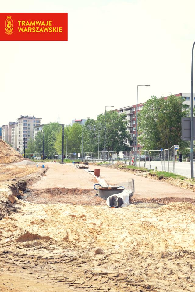 zdjęcie budowy torów trasy tramwaju na Winnicę