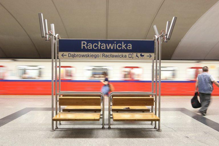 Peron stacji metra Racławicka
