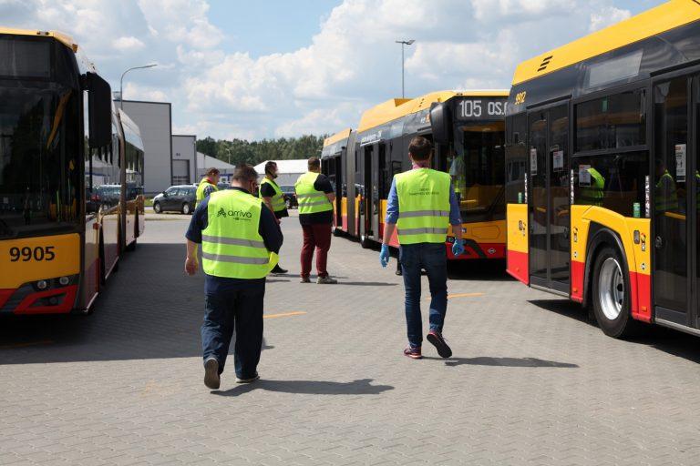 Kontrola stanu technicznego autobusów