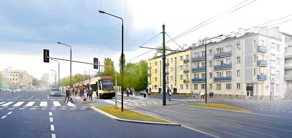 Wizualizacja tramwaju na ul. Kasprzaka