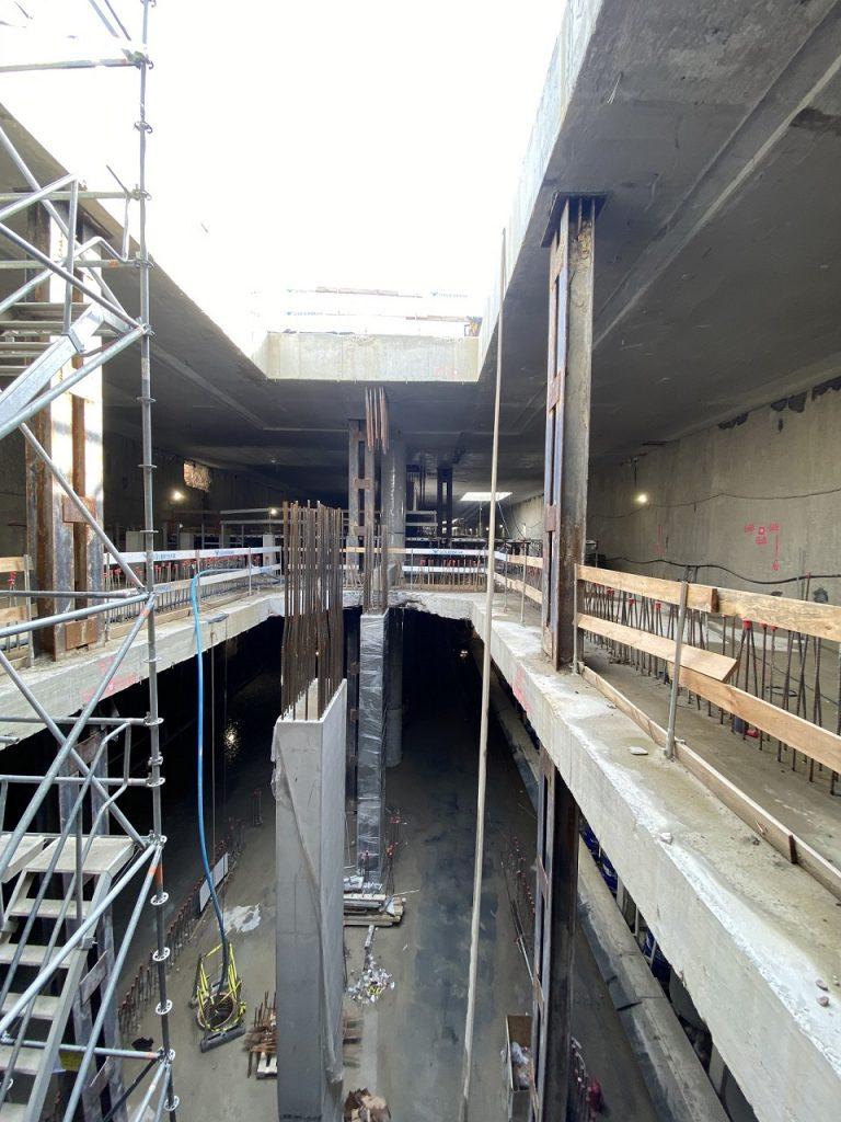 zdjęcie z budowy drugiej linii metra