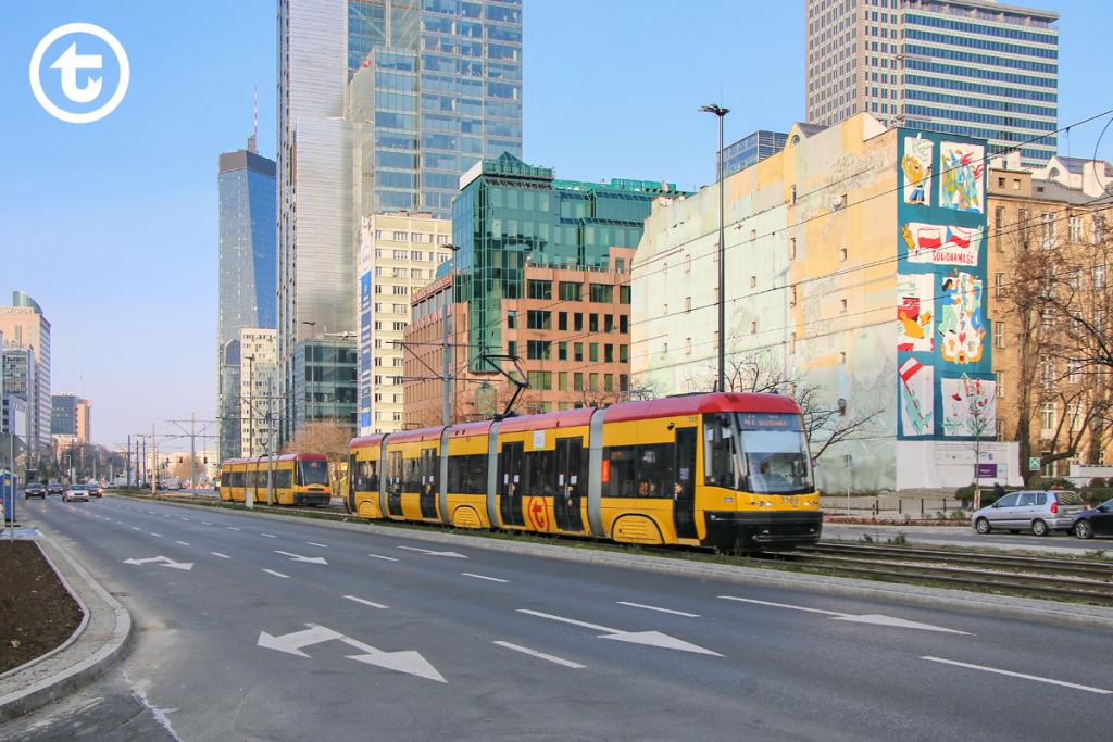 al. Jana Pawła II po renowacji - tramwaj linii 41