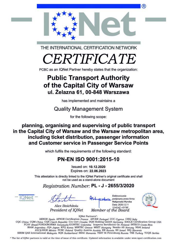 Certificate no J-2655/3/2020