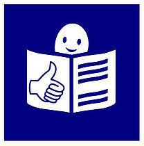 Ikona identyfikująca tekst łatwy do czytania i zrozumienia (ETR)