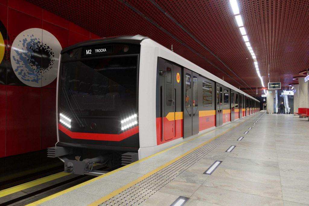 wizualizacja składu metra Škoda Varsovia