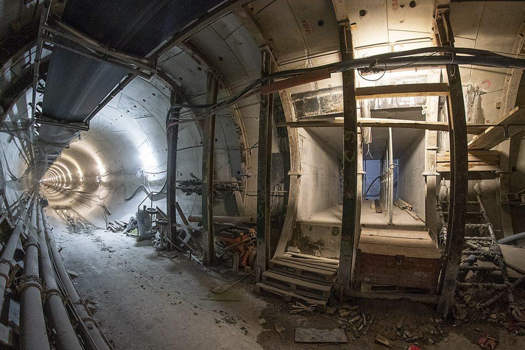 budowany tunel metra