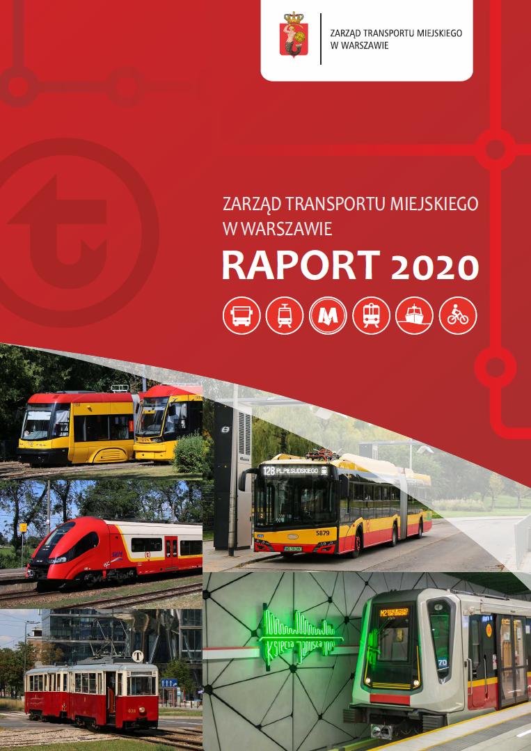 okładka Raportu Rocznego ZTM za 2020 rok