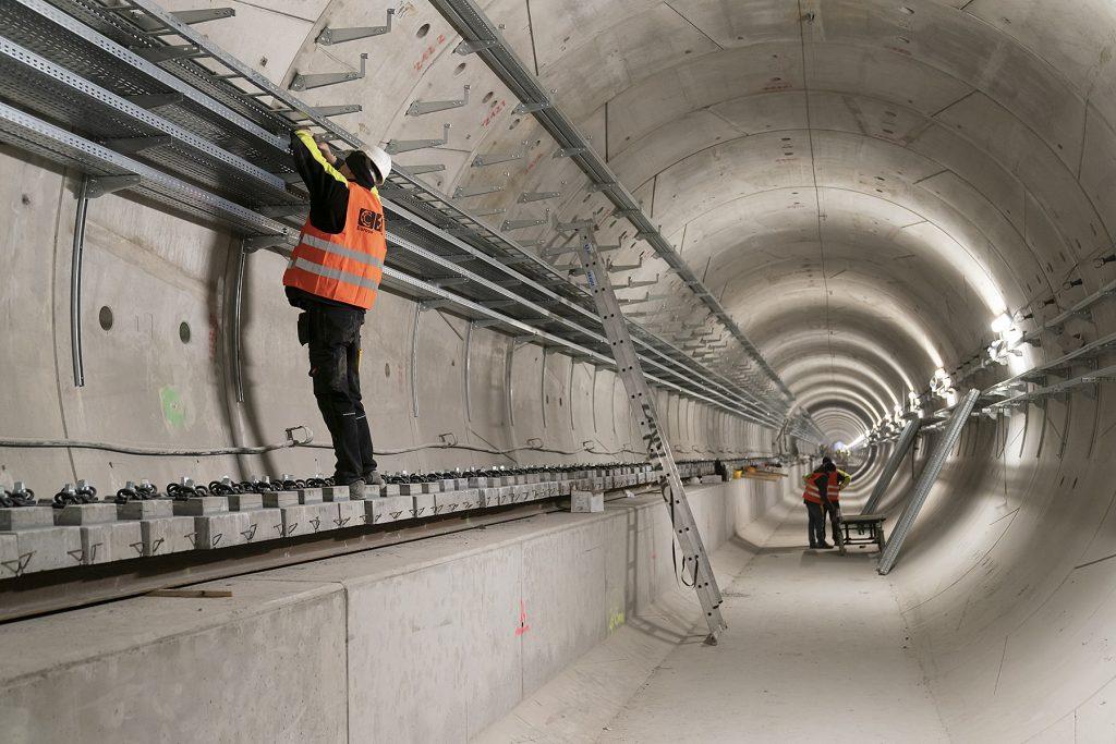 zdjęcie - plac budowy tunelu drugiej linii metra