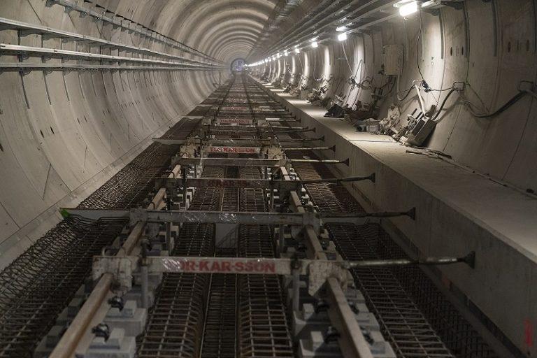 zdjęcie - budowa II linii metra na Bródnie - widok na tunel