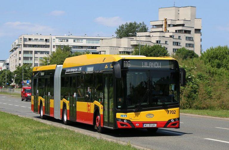 zdjęcie gazowego autobusu marki Solaris
