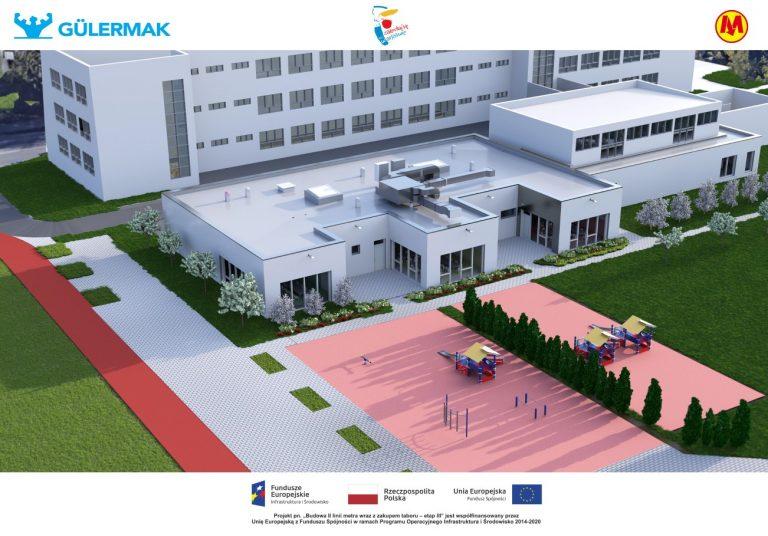 Wizualizacja przedszkola integracyjnego przy ul. Hieronima 2 po odbudowie