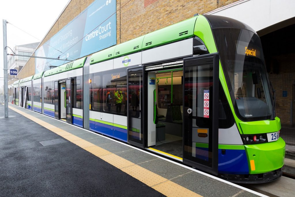zdjęcie tramwaju w Londynie - fot. Transport for London