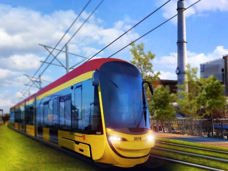 Wizualizacja tramwaju na ul. Modlińskiej